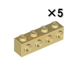 レゴ LEGO パーツ ばら売り ブロック1×4(側面にスタッド有):タン(5個セット)|starbrick37-lego