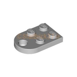 レゴ LEGO パーツ ばら売り プレート2×3(片側半円穴有):ライトブルーイッシュグレイ|starbrick37-lego