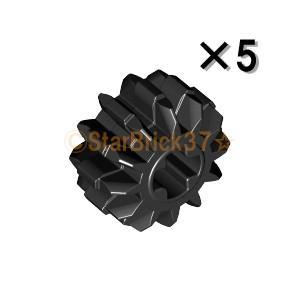 レゴ LEGO テクニックパーツ ばら売り テクニックギア12歯:ブラック(5個セット)|starbrick37-lego