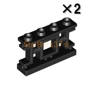 レゴ LEGO パーツ ばら売り 装飾フェンス1×4×2(アジア風格子):ブラック(2個セット)|starbrick37-lego