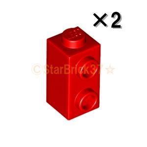レゴ LEGO パーツ ばら売り ブロック1×1×1 2/3(1方向スタッド):レッド(2個セット)|starbrick37-lego