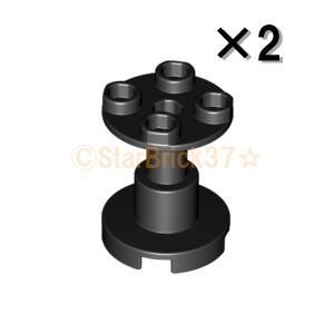 レゴ LEGO パーツ ばら売り 円柱2×2×2(スタンド):ブラック(2個セット)|starbrick37-lego