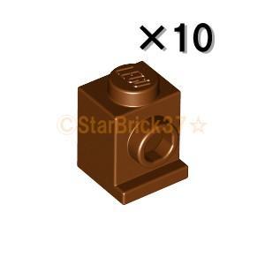 レゴ LEGO パーツ ばら売り ブロック1×1ヘッドライト:レディシュブラウン(10個セット)|starbrick37-lego