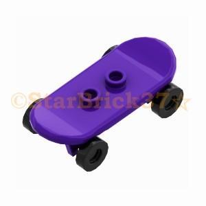レゴ LEGO 車パーツ ばら売り スケートボード(スケボー):ダークパープル|starbrick37-lego