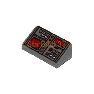 レゴ LEGO パーツ ばら売り スロープ31度1×2×2/3(2面レッドモニター):ダークブルーイッシュグレイ starbrick37-lego