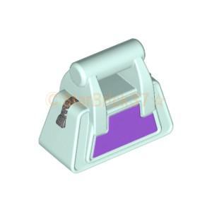 レゴ(LEGO)パーツばら売りのハンドバッグ(チャック付き)(かばん)のライトアクアです。