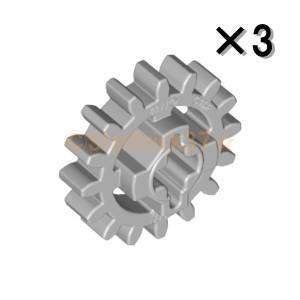 レゴ LEGO テクニックパーツ ばら売り テクニックギア16歯(新型・補強):ライトブルーイッシュグレイ(3個セット)|starbrick37-lego