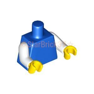 レゴ LEGO パーツ ばら売り ミニフィグトルソー:プレーンブルーホワイトアーム|starbrick37-lego
