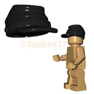 レゴ LEGO カスタムパーツ ばら売り 騎兵隊の帽子(互換品):ブラック|starbrick37-lego