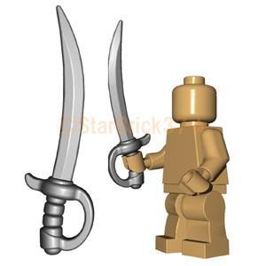 レゴ LEGO カスタムパーツ ばら売り 騎兵隊のサーベル(互換品):スティール|starbrick37-lego