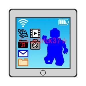 レゴ LEGO パーツ ばら売り タブレットPC(オリジナルプリントタイル):ライトブルーイッシュグレイ|starbrick37-lego