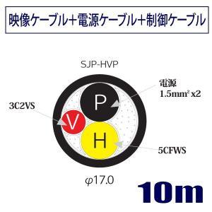 スタジオモニター用ジープケーブル 5CFWS+電源線+3C2VS 両端BNC/接地2P付ケーブル10m SJP-HVP 立井電線【受注生産品】|starcable