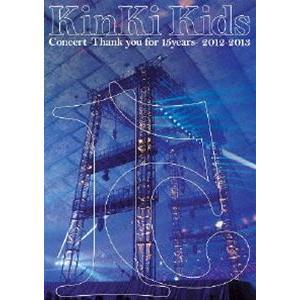 KinKi Kids Concert -Thank you for 15years- 2012-2013【通常仕様】 [DVD]|starclub