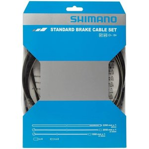 SHIMANO(シマノ) ブレーキケーブルセット スティール MTB ブラックの画像