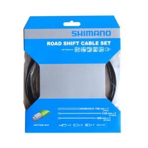 SHIMANO シフトケーブルセット オプティスリック ROAD ブラック Y60198010|starcycletokyo-pro