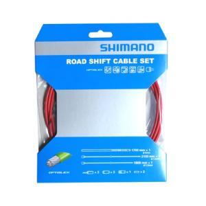 SHIMANO シフトケーブルセット オプティスリック ROAD レッド Y60198040|starcycletokyo-pro