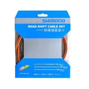 SHIMANO シフトケーブルセット オプティスリック ROAD オレンジ Y60198050|starcycletokyo-pro