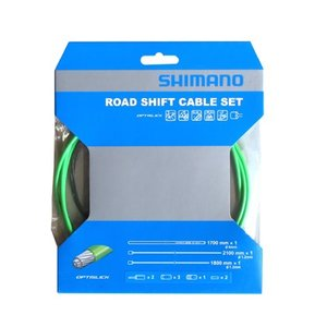 SHIMANO シフトケーブルセット オプティスリック ROAD グリーン Y60198060|starcycletokyo-pro