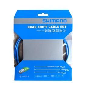 SHIMANO シフトケーブルセット オプティスリック ROAD ブルー Y60198070|starcycletokyo-pro