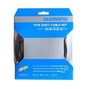 SHIMANO シフトケーブルセット オプティスリック MTB ブラック Y60198090|starcycletokyo-pro
