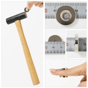 ネオジム磁石 ネオジウム磁石 10個セット 20mm×4mm 皿穴5mm ネジ穴 丸型 超強力 マグネット ボタン型 N35 starfocus 03