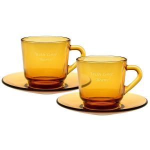 コーヒーカップ&ソーサー ペア (誕生日 結婚記念日 結婚祝い 内祝い 出産祝い 贈り物 名入れ) 『代引き不可商品』|starkids