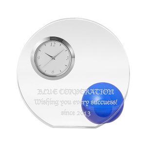 「ラウンド&ボール置き時計 ブルー」 新築祝い,記念品,結婚祝いにどうぞ (代引き不可商品)|starkids
