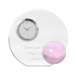 「ラウンド&ボール置き時計 ピンク」 新築祝い,記念品,結婚祝いにどうぞ (代引き不可商品)|starkids