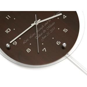 「アンティール ブラウン 振り子時計(電波時計)」  (名入れ時計 オリジナル時計 新築祝い 結婚祝い 贈り物) 『代引き不可商品』|starkids|04