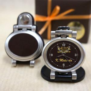 「ホールインワン記念品 時計 コンパクトスタンド オーバル型」 10個以上ご 購入下さい 名入れ オリジナル時計|starkids