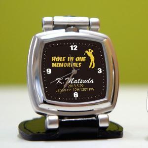 ホールインワン記念品 時計 コンパクトスタンド ...の商品画像