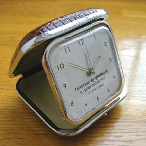 「トラベルウォッチ シンプルデザイン」 オリジナル時計 名入れ  誕生日 還暦 退職 両親 父の日 ギフト|starkids