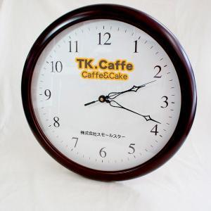 「会社ロゴ BIG木製壁掛け時計」オリジナル時計 企業ロゴマーク 名入れ 開店祝い 開業祝い 開院祝い 周年 創業 竣工 記念|starkids