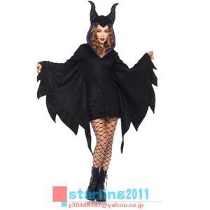2018年新作 ハロウィン 蝙蝠 コウモリ 牛の角 コスプレ 衣装 コスチューム レディース 表演服 ステージ衣装 デビル 悪魔 ウィッチ 魔女 巫女 仮装