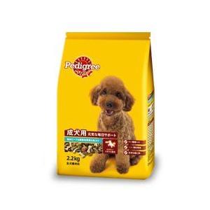 MARS japan ペディグリー 成犬用 元気な毎日サポート 旨みビーフ&緑黄色野菜&魚入り 2.2kg×4袋 starlive