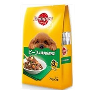 MARS japan ペディグリー 成犬用 ビーフ&緑黄色野菜 70g×3×48袋 starlive