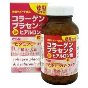 コラーゲン&プラセンタヒアルロン酸 徳用 600粒 / ユウキ製薬 starmall
