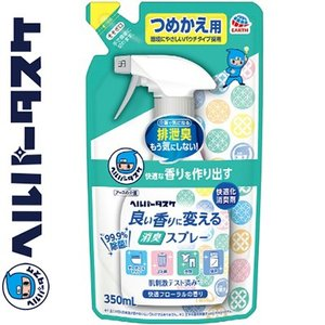 ヘルパータスケ 良い香りに変える消臭スプレー 快適フローラルの香り つめかえ/詰め替え 350mL ( アース製薬 クレベリン )|starmall