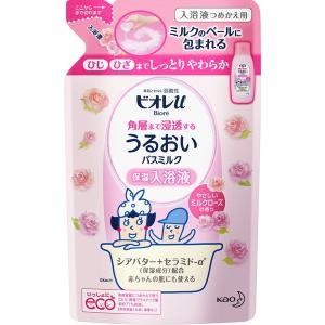 ビオレu うるおいバスミルク ミルクローズの香り 詰替用 480mL(花王 ビオレu) ※ボディーソ...