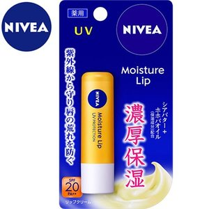 ニベア 薬用モイスチャーリップUV SPF18/PA+ 3.9g (医薬部外品) / 花王 ニベア|starmall