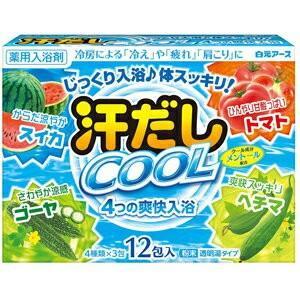 汗だしクール 4つの爽快入浴 25g×12包 (医薬部外品) / 白元アース|starmall