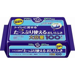 アクティ トイレに流せるたっぷり使えるおしりふき 100枚 / 日本製紙クレシア アクティ|starmall
