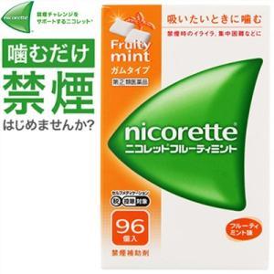 武田薬品工業 ニコレットフルーティミント 96個 (指定第2類医薬品)|starmall