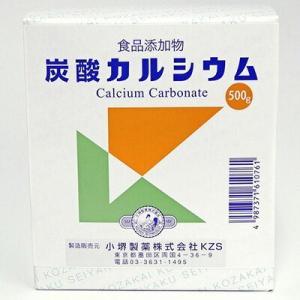 炭酸カルシウム 食添 500g / 小堺製薬|starmall
