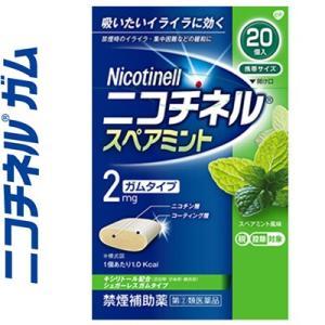 グラクソ・スミスクライン ニコチネル スペアミント 20個 (指定第2類医薬品)|starmall