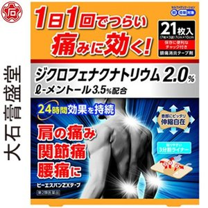 大石膏盛堂 ビーエスバンZXテープ 21枚 (第2類医薬品)|starmall
