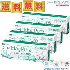ワンデーピュアうるおいプラス 乱視用 32枚入 4箱 [ 送料無料/処方箋不要/コンタクトレンズ/ワンデー/ピュア/1day Pure ] (シード/SEED) starmall