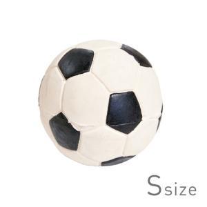 ペット用 玩具 サッカーボール S 天然ゴム LANCO ランコ ラバートイ スクイーカー  【ペット】 【おもちゃ】|starry