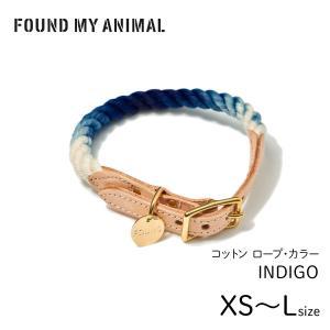 首輪 犬 & 猫  ロープ・カラー インディゴ / ROPE COLLARFOUND MY ANIMAL ファウンド・マイ・アニマル キャット&ドッグ カラー|starry