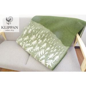 送料無料 KLIPPAN / クリッパン ウールブランケット ハウスインザ フォレスト (グリーン)...
